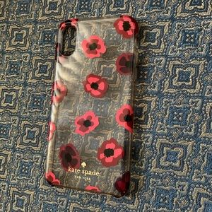 Kate Spade Red Floral iPhone XS Case